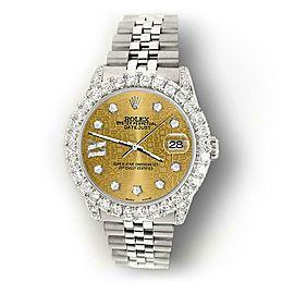 Rolex Datejust 31mm 2.95ct Diamond Bezel/Lugs/Champagne Jubilee IX Star Dial