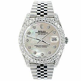 Rolex Datejust 41mm 5.9CT Bezel/Lugs/Sides/Champagne MOP Dial 126300