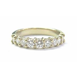 Natural Round Diamond Nine-Stone Shared Prong Yellow Gold Band Ring .65Ct 14KT