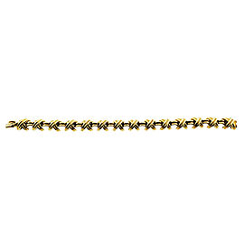 Vintage Tiffany & Co Large Signature X Bracelet In 18K Yellow Gold