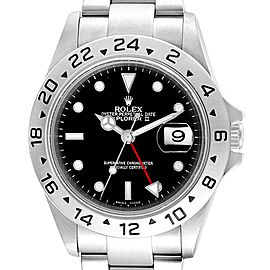 Rolex Explorer II 40mm Black Dial Parachrom Hairspring Mens Watch 16570