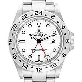 Rolex Explorer II 40mm White Dial Red Hand Mens Watch 16570 Box Papers