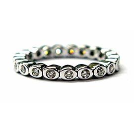 Natural Round Diamond Bezel Set Eternity Band Ring 21-Stones .45Ct Size 6 G-H/VS