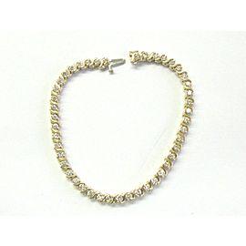 "Round Cut Diamond Tennis Bracelet 14Kt Yellow Gold 45-Stones 3.00Ct 7"""