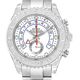 Rolex Yachtmaster II Regatta White Gold Platinum Watch 116689 Unworn