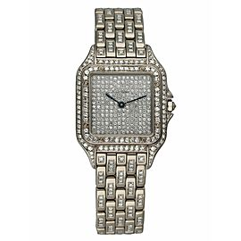 Cartier Panthere 18K White Gold Full Factory Diamonds