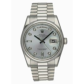 Rolex Day-Date 118206 Platinum Ice Blue Diamond Dial