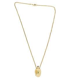 Piaget Cap / Hat Necklace In 18K Yellow Gold