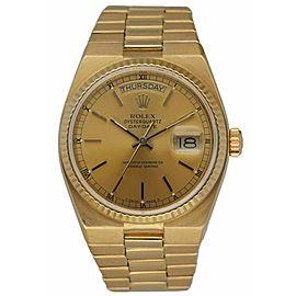 Rolex Day Date Oysterquartz 19018 18K Yellow Gold Men's Watch