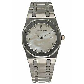 Audemars Piguet 56175PT Royal Oak Quartz MOP Dial Platinum Ladies Watch