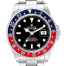 Rolex GMT Master 40mm Blue Red Pepsi Bezel Mens Watch 16700 Box