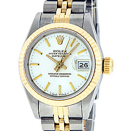 Rolex Datejust Stainless Steel and 18K Yellow Gold White Dial 26mm Women's Watch