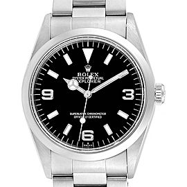 Rolex Explorer I 36mm Black Dial Automatic Steel Mens Watch 14270