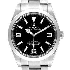 Rolex Explorer I 39 Luminescent Arabic Numerals Watch 214270 Box Card