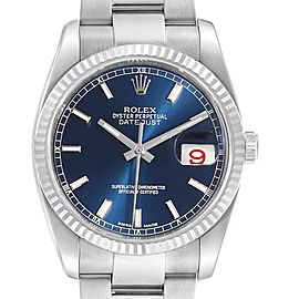 Rolex Datejust 36 Steel White Gold Oyster Bracelet Watch 116234