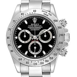 Rolex Daytona Cosmograph Black Dial Chronograph Steel Mens Watch 116520