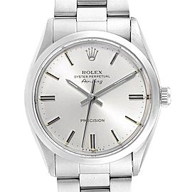 Rolex Air King Vintage Stainless Steel Silver Dial Mens Watch 5500