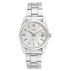 Rolex OysterDate Precision Linen Dial Steel Vintage Mens Watch 6694