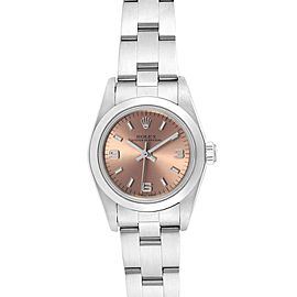 Rolex Oyster Perpetual 24 Nondate Salmon Dial Ladies Watch 76080
