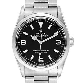 Rolex Explorer I 36 Black Dial Oyster Bracelet Steel Mens Watch 14270