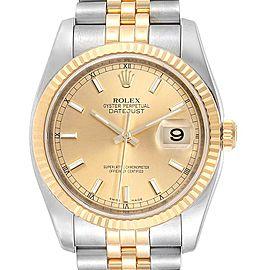 Rolex Datejust 36 Steel Yellow Gold Jubilee Bracelet Mens Watch 116233