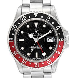 Rolex GMT Master Fat Lady Vintage Coke Black Red Bezel Mens Watch 16760