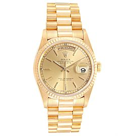 Rolex President Day-Date 36 Yellow Gold Champagne Dial Mens Watch 18238