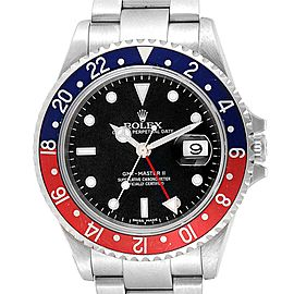 Rolex GMT Master II Error Dial Pepsi Bezel Mens Watch 16710 Box Papers