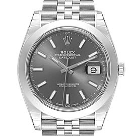 Rolex Datejust 41 Grey Dial Jubilee Bracelet Mens Watch 126300 Unworn
