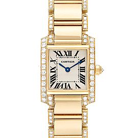 Cartier Tank Francaise 18K Yellow Gold Diamond Ladies Watch WE1001RG