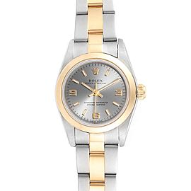 Rolex Oyster Perpetual Steel Yellow Gold Ladies Watch 76183 Box Papers