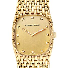 Audemars Piguet 18K Yellow Gold Diamond Unisex Watch 40154