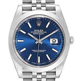 Rolex Datejust 41 Blue Dial Jubilee Bracelet Steel Mens Watch 126300