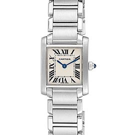 Cartier Tank Francaise 20mm Silver Dial Steel Ladies Watch W51008Q3