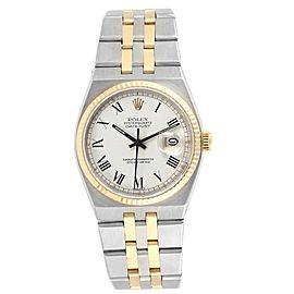 Rolex Oysterquartz Datejust Steel Yellow Gold Buckley Dial Watch 17013
