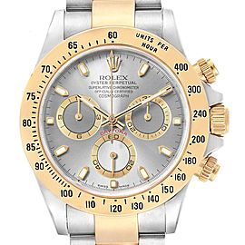 Rolex Daytona Steel Yellow Gold Slate Dial Chronograph Mens Watch 116523