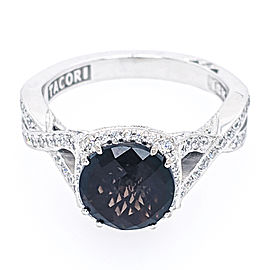 Tacori 18k White Gold Smoky Quartz, Diamond Ring