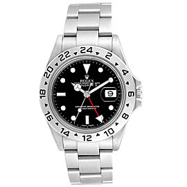 Rolex Explorer II Black Dial Red Hand Parachrom Hairspring Mens Watch 16570