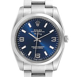 Rolex Air King 34 Blue Dial Smooth Bezel Unisex Watch 114200