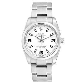 Rolex Air King White Dial Domed Bezel Steel Mens Watch 114200