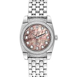 Rolex Cellini Cestello White Gold MOP Diamond Ladies Watch 6311 Box Card