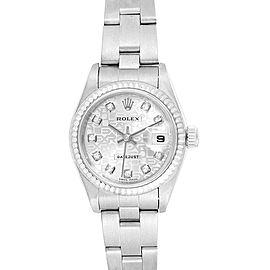 Rolex Datejust 26 Steel White Gold Diamond Dial Ladies Watch 79174