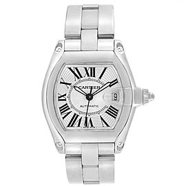 Cartier Roadster Silver Dial Steel Mens Watch W62025V3