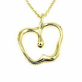 Tiffany & Co. 18K Yellow Gold Apple Fruit Necklace Pendant CHAT-181