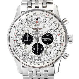 Breitling Navitimer Chronograph Panda Steel Mens Watch A23322