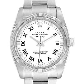 Rolex Oyster Perpetual Air King White Dial Steel Mens Watch 114210