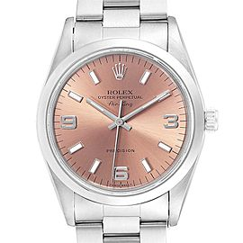 Rolex Air King 34 Salmon Dial Oyster BraceletSteel Unisex Watch 14000