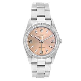 Rolex Air King 34 Salmon Dial Steel Mens Watch 14010