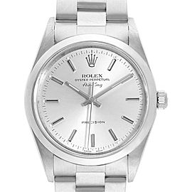 Rolex Air King 34 Silver Dial Domed Bezel Steel Mens Watch 14000