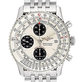 Breitling Navitimer Fighter Panda Dial Steel Watch A13330 Box papers